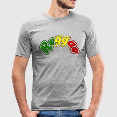 reggae - Slim Fit T-shirt herr