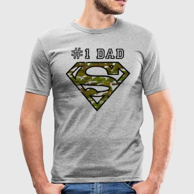 Superman Super Dad Army - T-shirt près du corps Homme