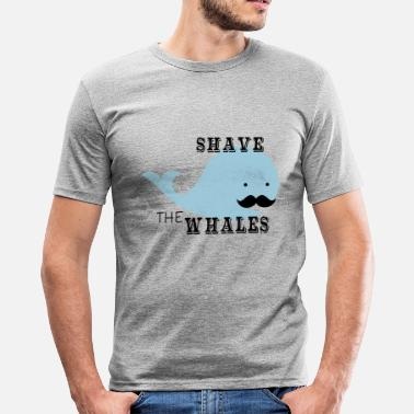 Shave Shave The Whales - Männer Slim Fit T-Shirt