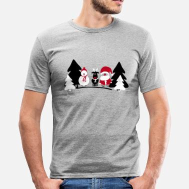 christmas crew 2 - Men's Slim Fit T-Shirt