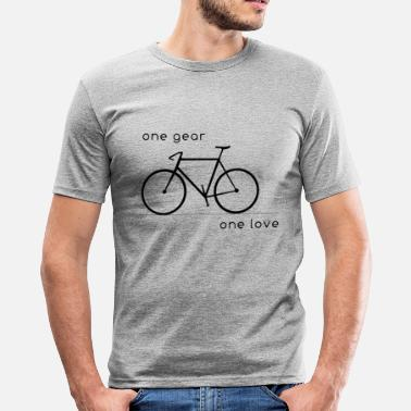 Singlespeed one gear_one love - Männer Slim Fit T-Shirt