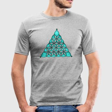 Flower Of Life, Sacred Geometry, Crop Circle,  - Slim Fit T-skjorte for menn