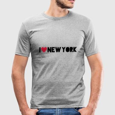 I Love New York - Herre Slim Fit T-Shirt