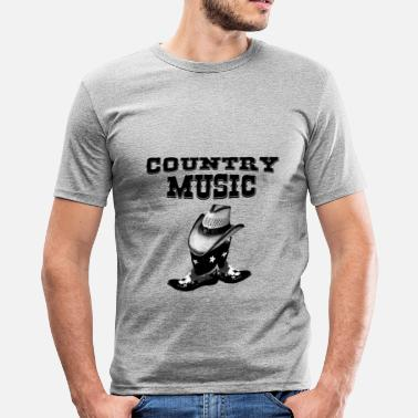 Country Music country music - Camiseta ajustada hombre