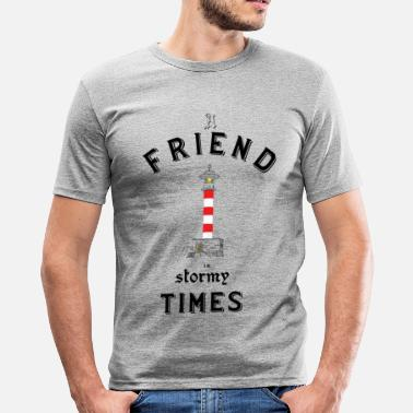 Burgas Best friends, friendship in English - Men's Slim Fit T-Shirt