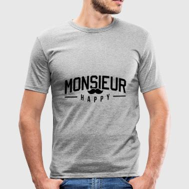 Monsieur-Happy - Tee shirt près du corps Homme
