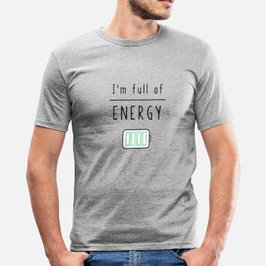 Charged Up charge - Men's Slim Fit T-Shirt