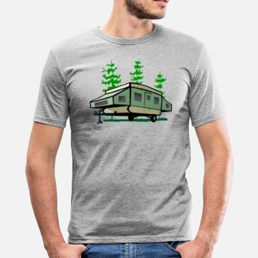 Pop Up Camping Pop Up Trailer - Men's Slim Fit T-Shirt