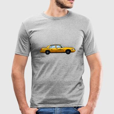 Yellow Cab NYC taxi New York yellow cab t-shirt gift idea - Men's Slim Fit T-Shirt