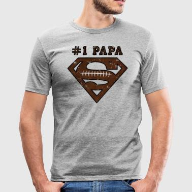 Superman Super Papa Football - Männer Slim Fit T-Shirt
