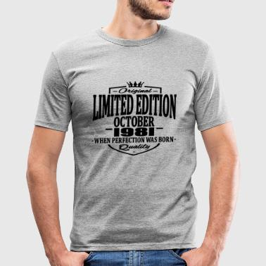 Limited edition october 1981 - Men's Slim Fit T-Shirt