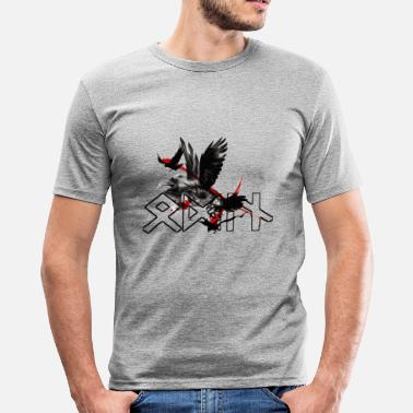 Odin Raven Odin Rune Ravens Design - Men's Slim Fit T-Shirt