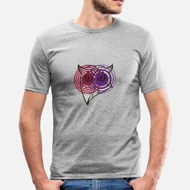 Hypnotic Spiral Hypnotic Owls - Men's Slim Fit T-Shirt
