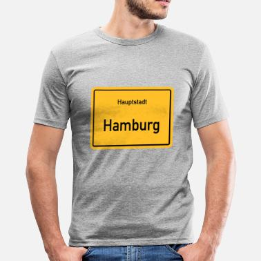 Kapital kapital Hamburg - Slim Fit T-skjorte for menn