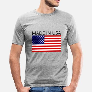 Skitest Laget i USA - Slim fit T-skjorte for menn