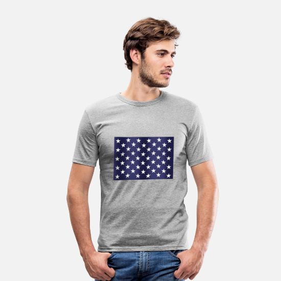 Country T-shirts - Stars and Stripes - T-shirt moulant Homme gris chiné