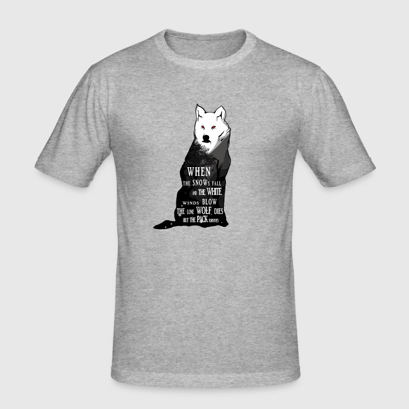 Wolf Ghost Summer Lady - Men's Slim Fit T-Shirt