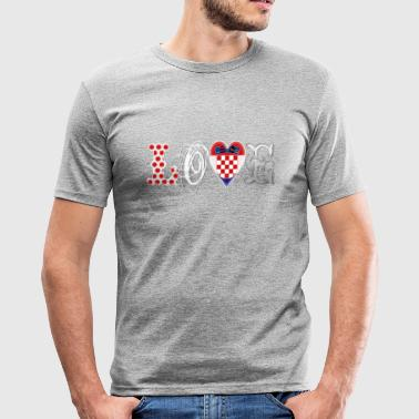 Love Croatia White - Men's Slim Fit T-Shirt