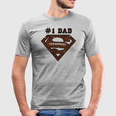 Superman Super Dad Football - Männer Slim Fit T-Shirt