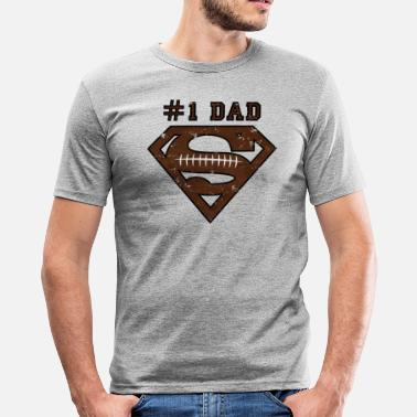 Farsdag Superman Super Dad Football - Slim fit T-skjorte for menn