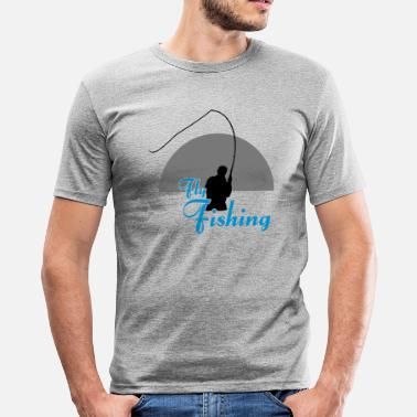 Fly Fly Fishing - Männer Slim Fit T-Shirt