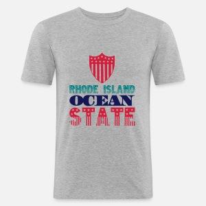 Rhode Spreadshirt State Ocean Homme T Island Shirt 8WqrUg8H