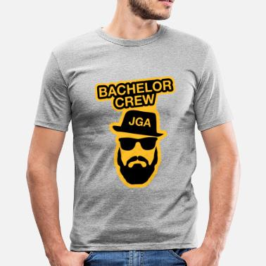 Crew Bachelor Crew JGA - JGA T-Shirt - Party Shirt - Männer Slim Fit T-Shirt
