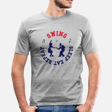 Swing - Eat - Sleep - Repeat - T-shirt près du corps Homme