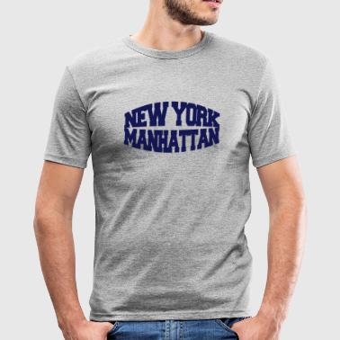 new york manhattan - Slim Fit T-skjorte for menn