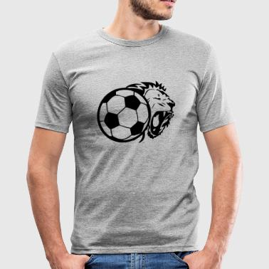 ballon football lion - T-shirt près du corps Homme