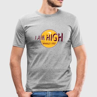 i am high_vec_3 de - Männer Slim Fit T-Shirt