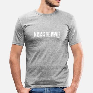 Music Is The Answer music is the answer by wam - Men's Slim Fit T-Shirt