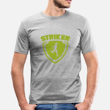 Label Fotbollsspelare Striker Label - Slim Fit T-shirt herr