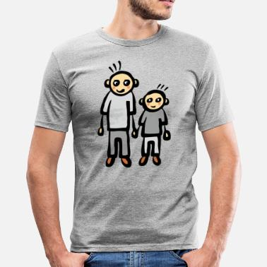 Parents Daddy Family father son daddy parents - Men's Slim Fit T-Shirt