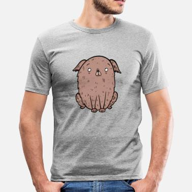 Spreadfun Tykk brun hund elsker gave - Slim Fit T-skjorte for menn