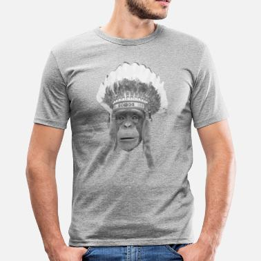 Indian Headdress indian headdress monkey - Men's Slim Fit T-Shirt