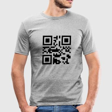 I love you QR Code - Men's Slim Fit T-Shirt