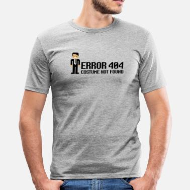 Krawatte Error 404  - Costume not found - Männer Slim Fit T-Shirt