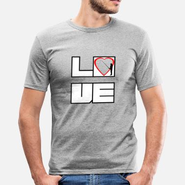 Love Fish Love fishing love fishing fish - Men's Slim Fit T-Shirt