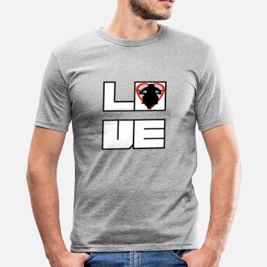 Motorcycle Love Love love biker sport motorcycle - Men's Slim Fit T-Shirt