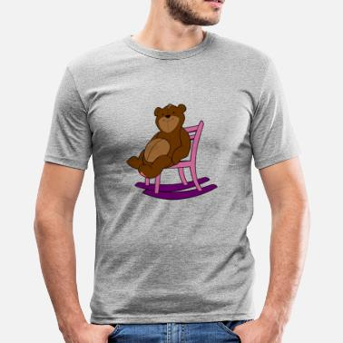 Rocking Chair Bear on rocking chair - Men's Slim Fit T-Shirt