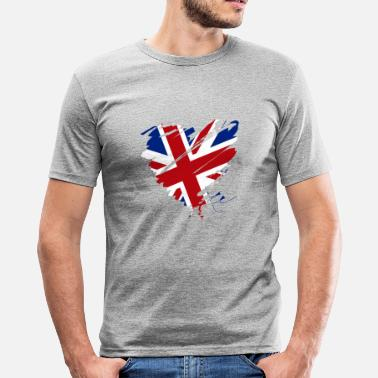 Football Design Wales Uk Heart Heart England Soccer Football UK - Men's Slim Fit T-Shirt