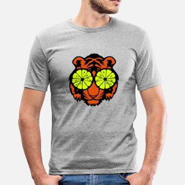 Lemon Logo Tiger eye lemon lemon drawing - Men's Slim Fit T-Shirt