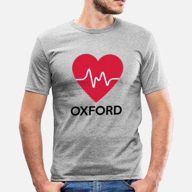 Oxford Herz Oxford - Männer Slim Fit T-Shirt