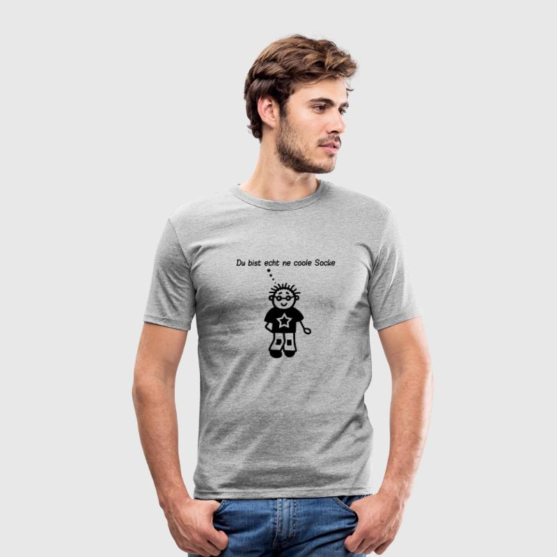 Coole Socke - Männer Slim Fit T-Shirt