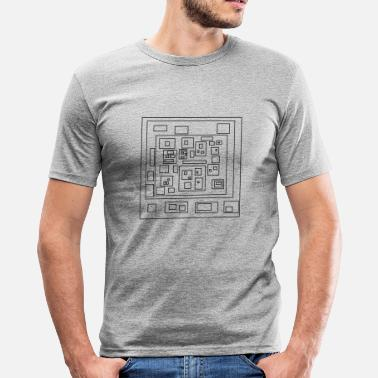Rectangle rectangles - T-shirt moulant Homme