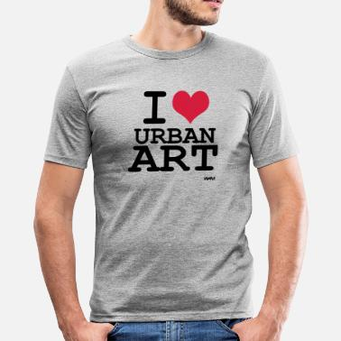 Graffiti Grappen i love urban art by wam - slim fit T-shirt