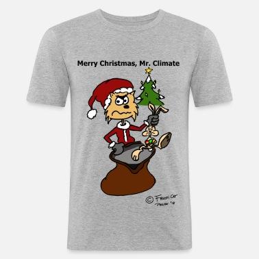 Weihnachtsgrüße Männer.Frusticat Klima Weihnachtsgrüße Männer Premium T Shirt Weiß