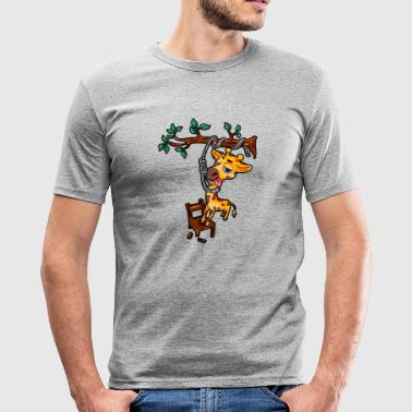 Giraffe suicide suicide comic - Men's Slim Fit T-Shirt
