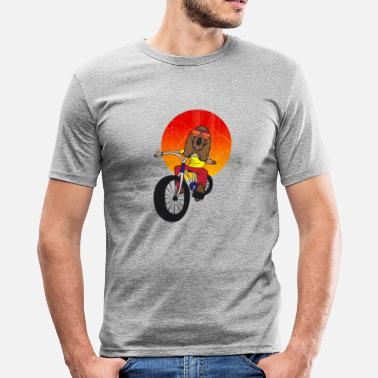 Basset Hound Dog on bike Basset Hound Dog Bike - Men's Slim Fit T-Shirt